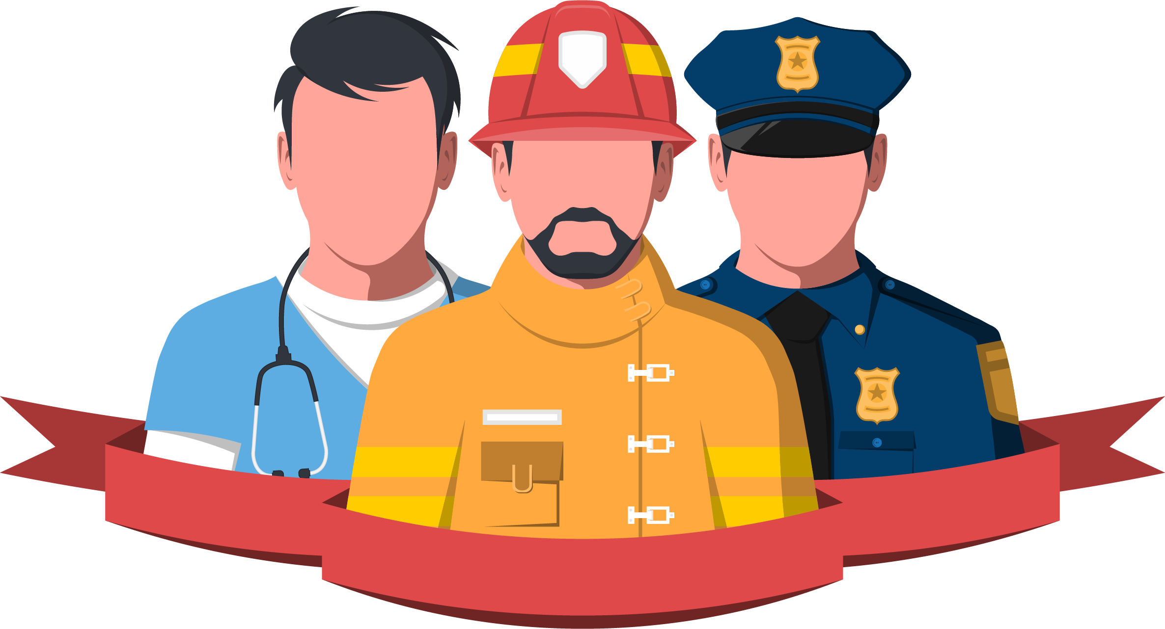 First responders faces